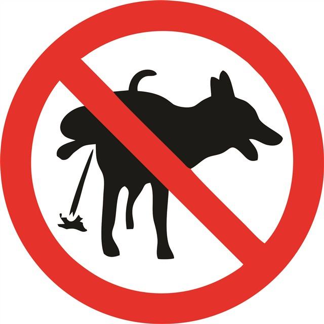 禁止宠物大小便标志
