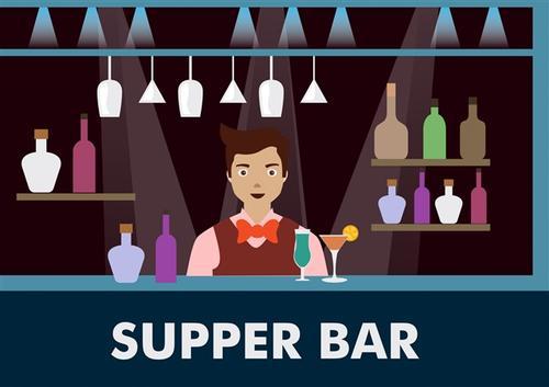 酒吧调酒师工作场景