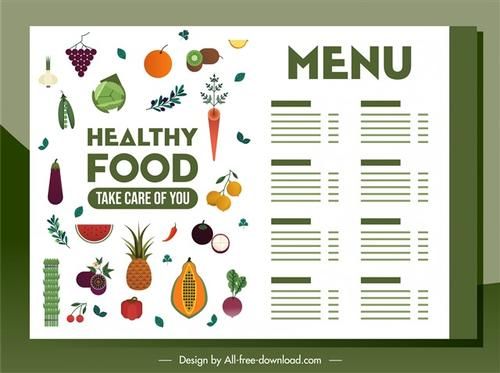 素食主义者蔬菜菜单