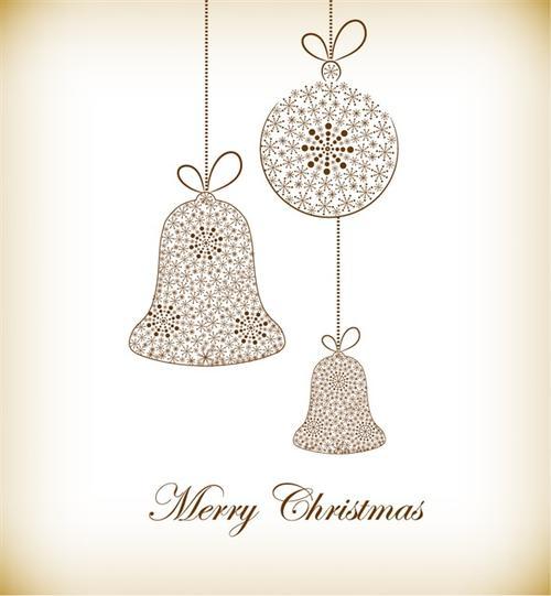 圣诞节水晶吊球背景图片