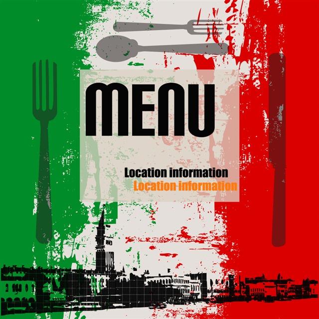 复古意大利菜单封面