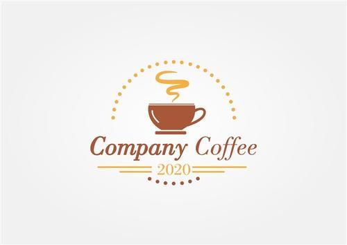 人文咖啡插画标志