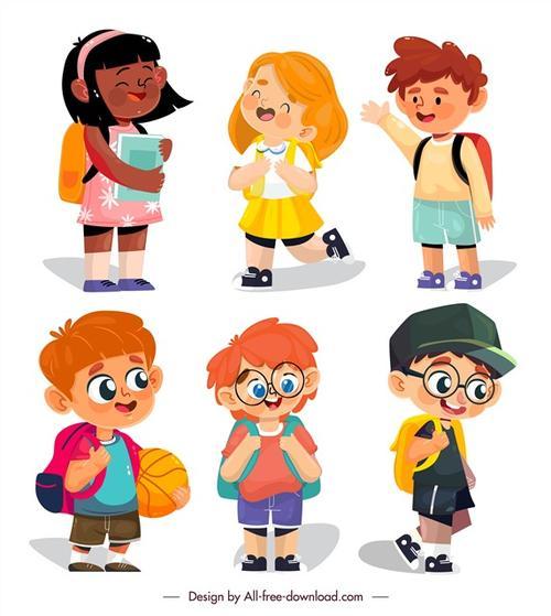 背书包的学生卡通图片
