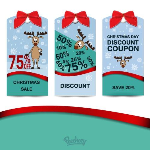 圣诞促销折扣标签