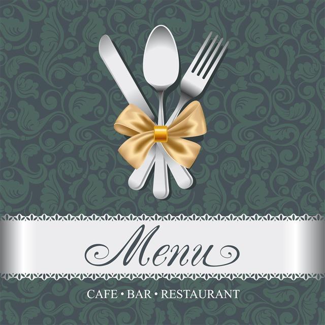 西餐菜谱封面背景图片