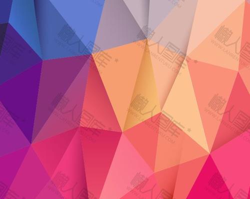 多边形几何拼接渐变背景图