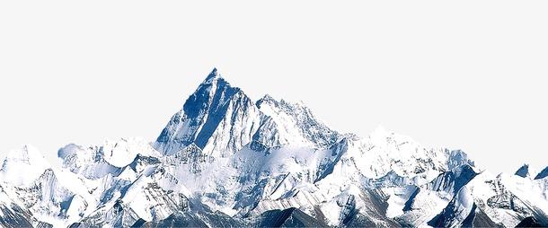 扁平化雪山图片免抠