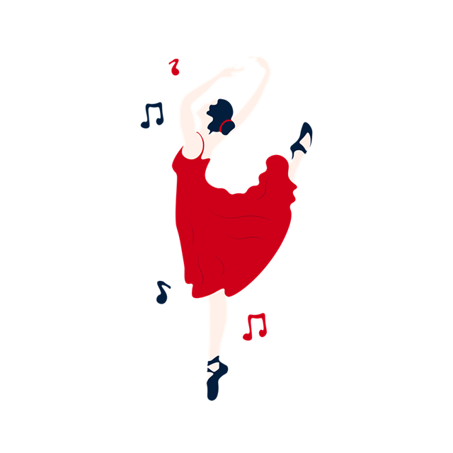 跳芭蕾舞蹈的女孩