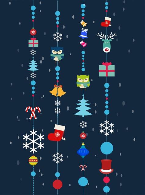 圣诞装饰背景卡通插画图片