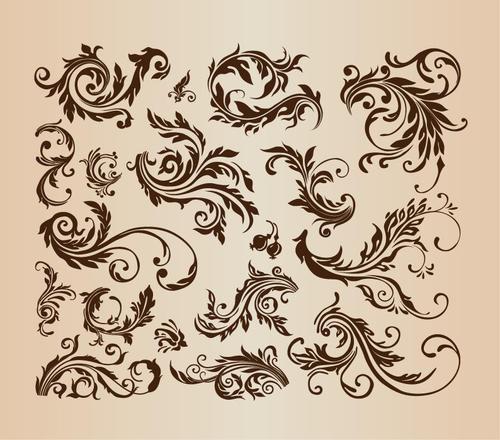 欧式复古花纹图案背景图片