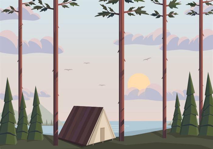 大自然风景插画