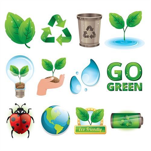 保护环境绿色生态图标