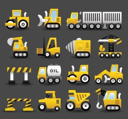 施工运输车辆免抠图标大全
