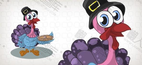 感恩节火鸡贺卡制作图片