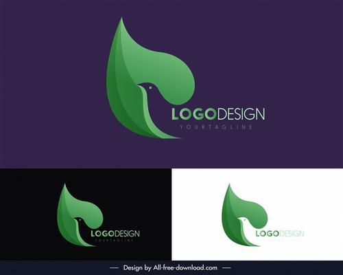 创意商业鸽子元素标志
