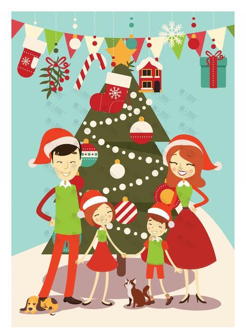 圣诞节卡通背景图片