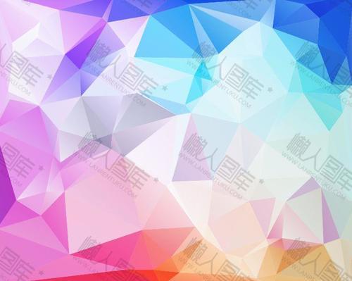 现代时尚炫彩几何背景图片