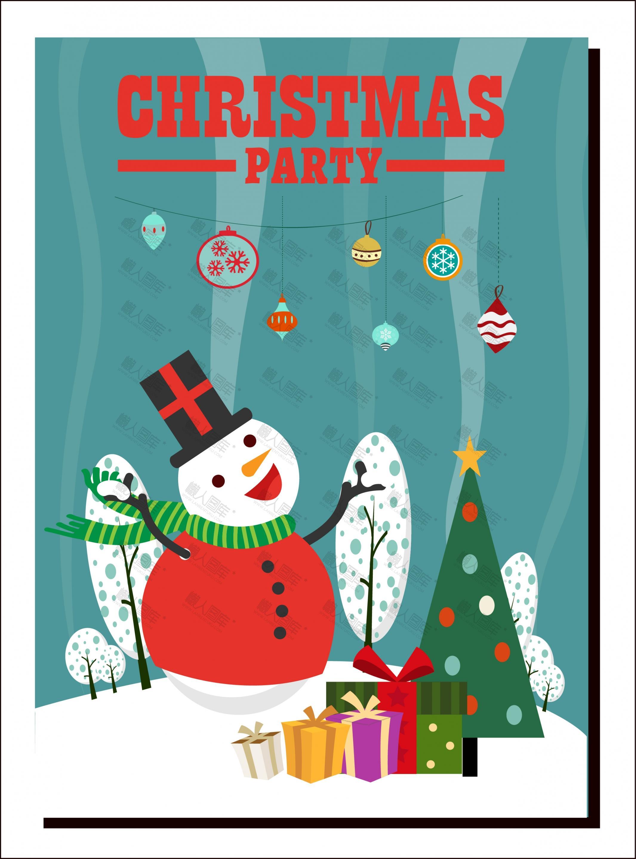 创意卡通圣诞节海报背景