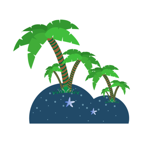 旅游海滩椰树图片