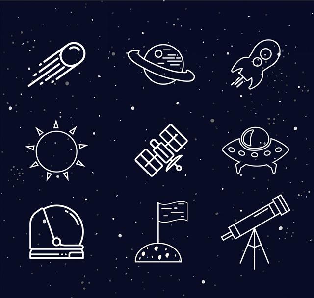 卡通太空主题插画