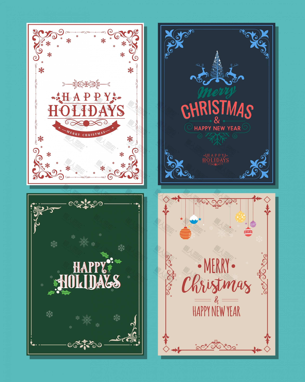 圣诞快乐海报背景模板