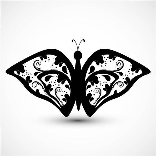 漂亮蝴蝶剪纸图案