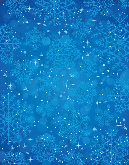 唯美雪花圣诞节背景图片