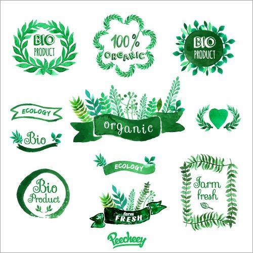 绿色植物环保标签