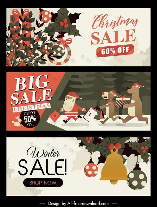 圣诞节banner促销海报背景图片