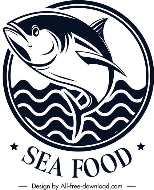 金枪鱼餐厅logo标志