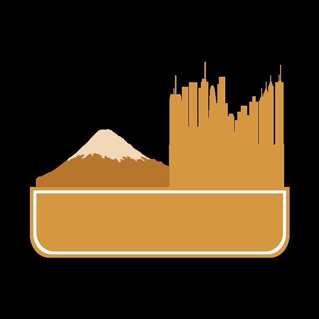 日本标志富士山矢量图