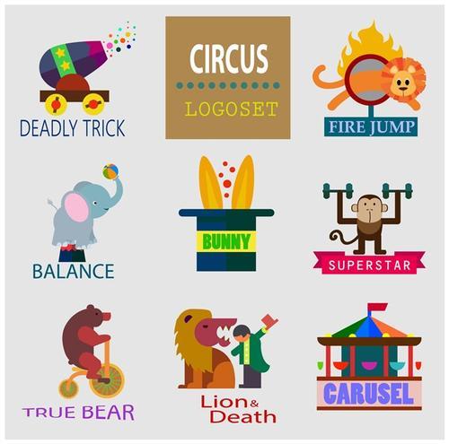 马戏团项目logo设计