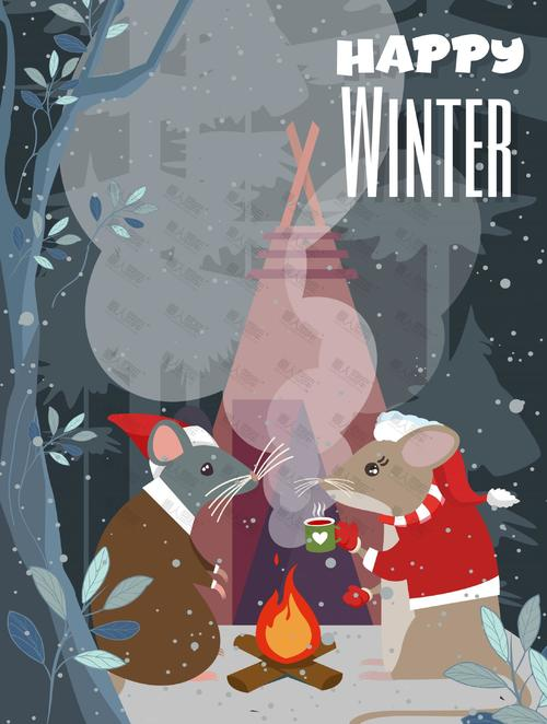 卡通趣味圣诞节海报背景图片