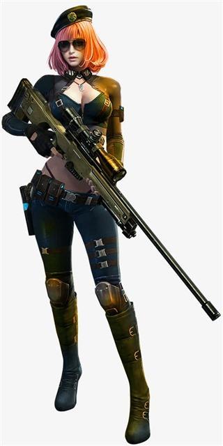 拿枪的美女战士图片