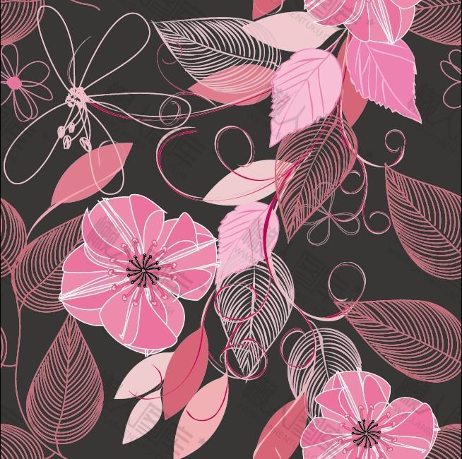 花卉图案无缝背景