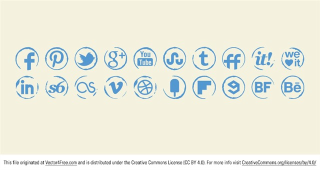 社交媒体小图标
