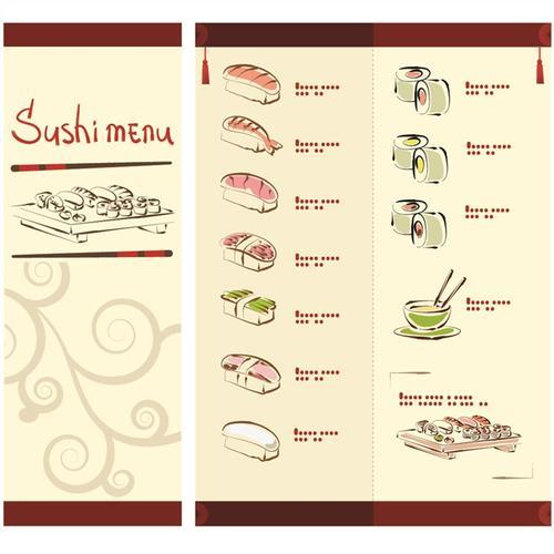 寿司日料菜单模板