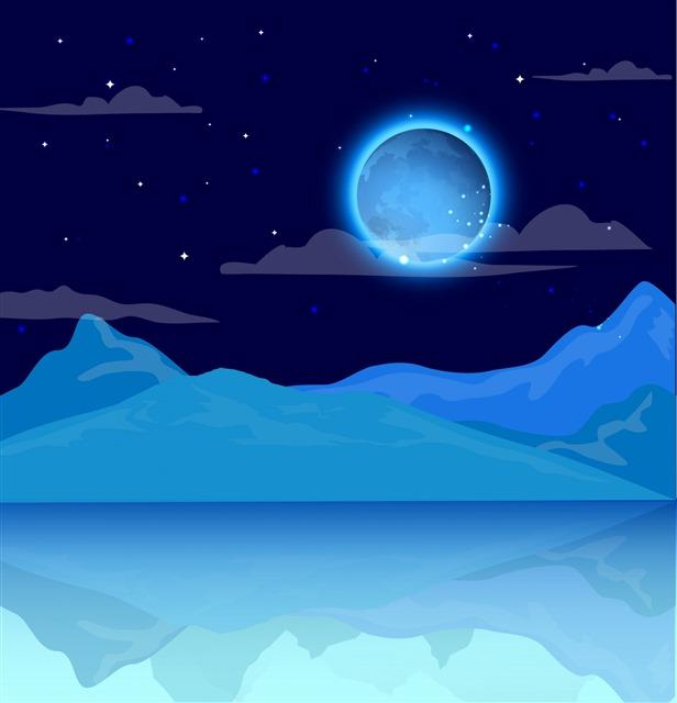 仙气蓝色背景图