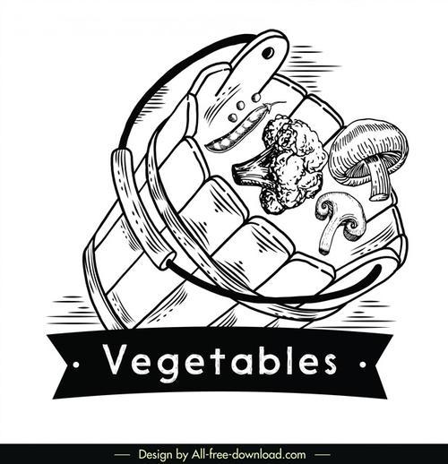 手绘蔬菜logo图案
