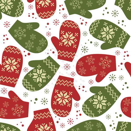 手套图案圣诞节背景图片