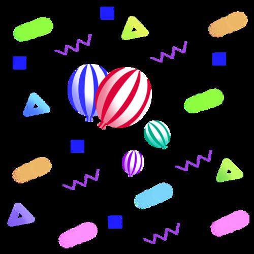 双十二几何漂浮元素图片