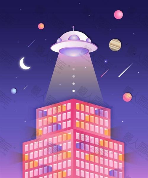 星空背景图粉色