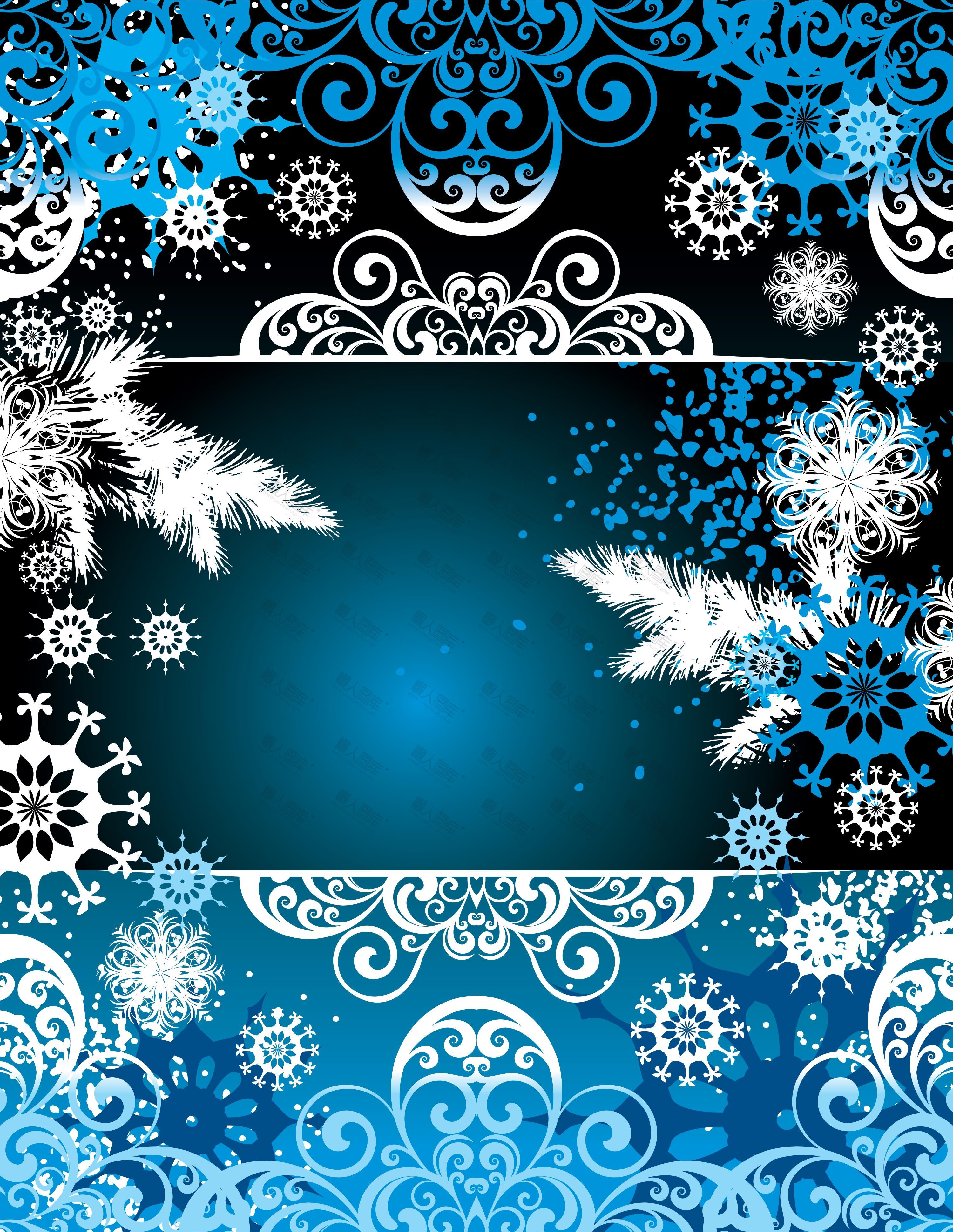 雪花纹理背景图