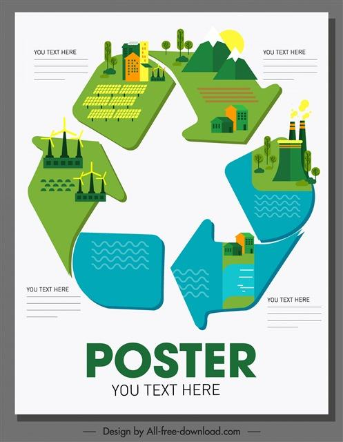 生态循环图片素材