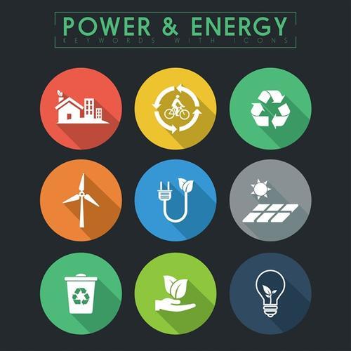 能量能源生态环保图标