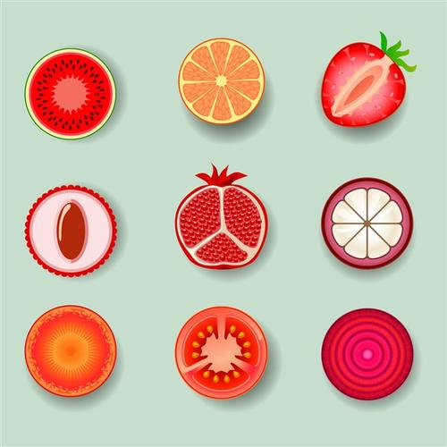 水果卡通图标