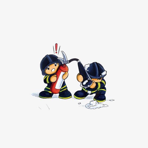 卡通消防员简笔画