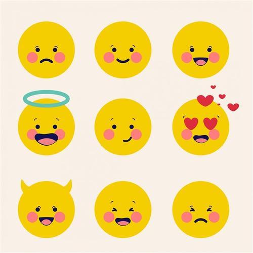 可爱黄脸卡通表情包素材