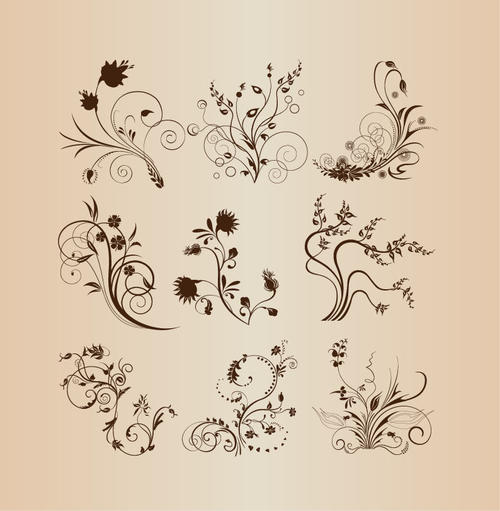 中国古典花纹背景图片