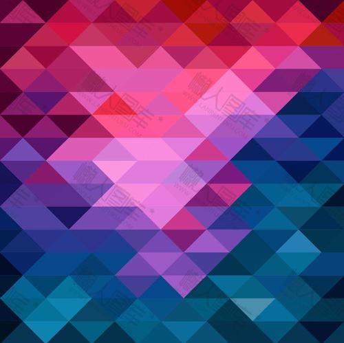 几何马赛克背景图